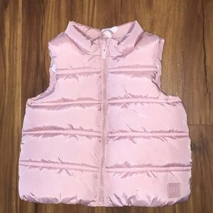 Baby Gap pink puffer vest 18-24M